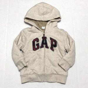 GAP Fully Lined Zip-up Sweatshirt Hoodie Cream
